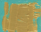 Gold and Sea Color Study OOAK Abstract Painting