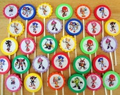 30 ct Sonic Hedgehog Super Heroes personalized cupcake toppers Great for birthday party favors or decoration