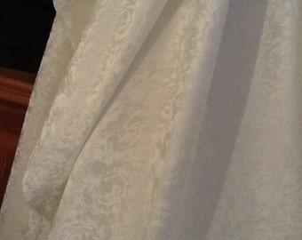 "silk/cotton jacquard fabric - ivory - 98"" wide"