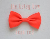 "the betsy hair bow in ""neon red"""