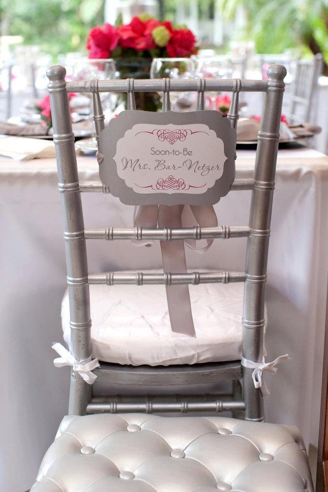 bridal shower chair bride
