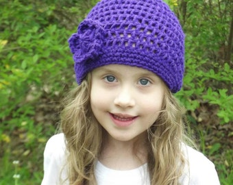 Basic Beanie with Flower