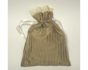 Silk Lavender Sachet Bag Refillable.