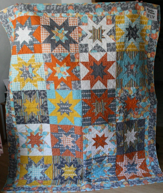 Double Vision Quilt  -- Star Quilt
