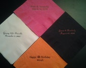 Personalized Beverage Napkins in sets of 50 for Weddings, Birthdays, Showers or anytime
