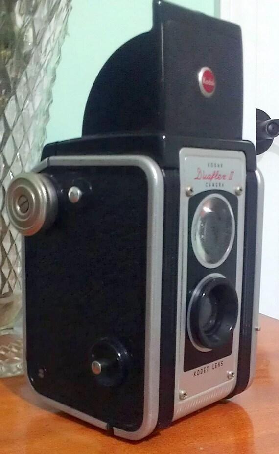 1950s Kodak Duaflex II Camera with leather case