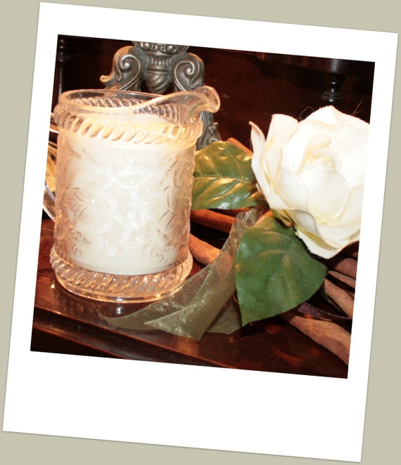 Vintage Milk Jug and Natural Australian Soy Wax Candle