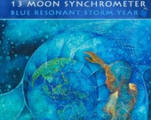 13 Moon Synchronometer - Blue Resonant Storm Year - July 26 2012 to July 25 2013