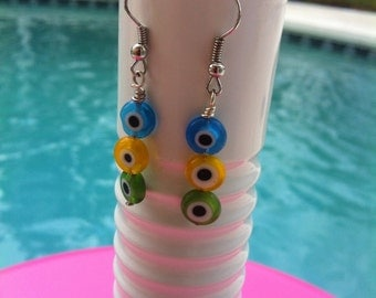 Glass Eye Earrings