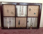 Jewelry display from old window