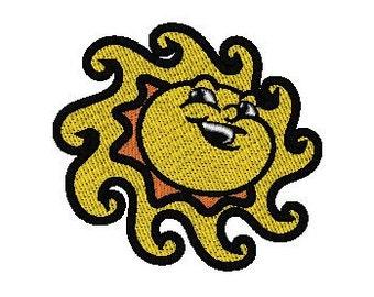 Smiley Sun Machine Embroidery Design