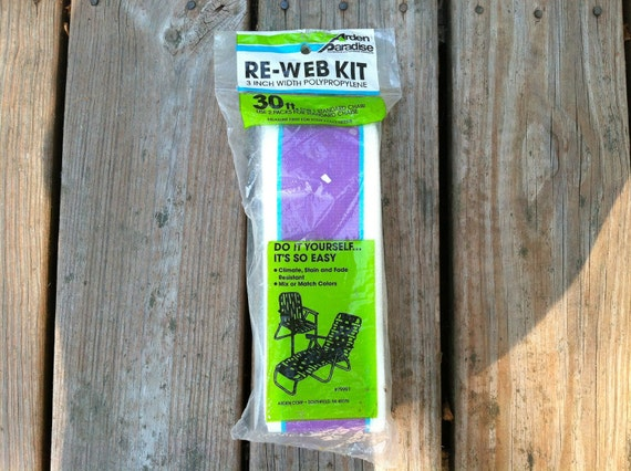 lawn chair re web kit repair by sunsweetreclaimers on etsy. Black Bedroom Furniture Sets. Home Design Ideas