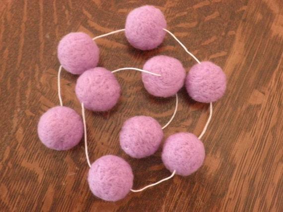 Lavendar (Scented) Wool Ball Garland