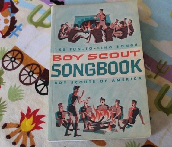 Book - Vintage - Boy Scout - 1960s - Song Book - Handbook - Music - Campfire