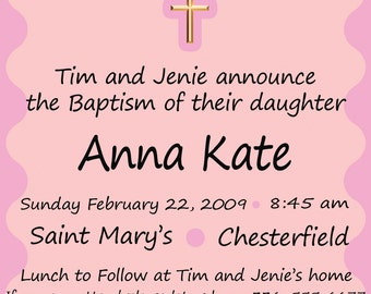 Custom Baptism/Dedication Announcement