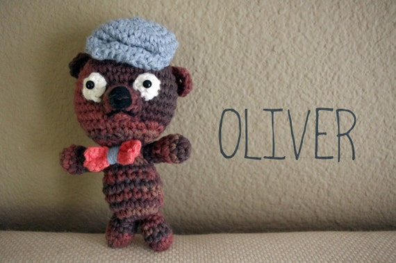 Oliver, the Mini Amigurumi Chocolate Bear