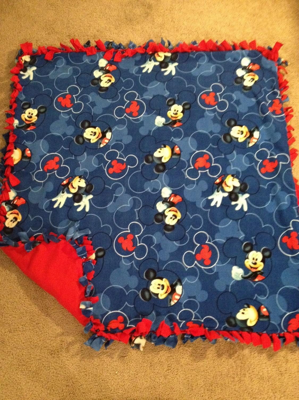 Disney Mickey Mouse Themed Fleece Blanket By Blanketsunlimited