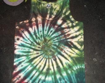 SPIRAL tie dye t shirt tank top