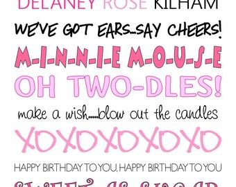 Minnie Mouse Birthday Wall Art