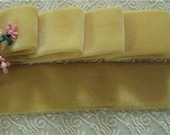 """Vintage luxorious 1940'S Italy rayon velvet ribbon 1.5""""sold by the yd"""