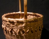 MICMAC CURLED BASKET 1940s. Native American First Nation East Coast Canada