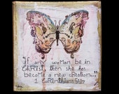 New Creation Butterfly Canvas