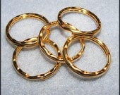 Gold Hammered Key Rings 5pk. Ships from the US. International Shipping.