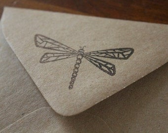 Small Dragon Fly Rubber Stamp