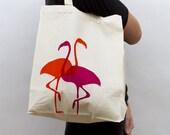 Tote Bag - 'Flamingos'