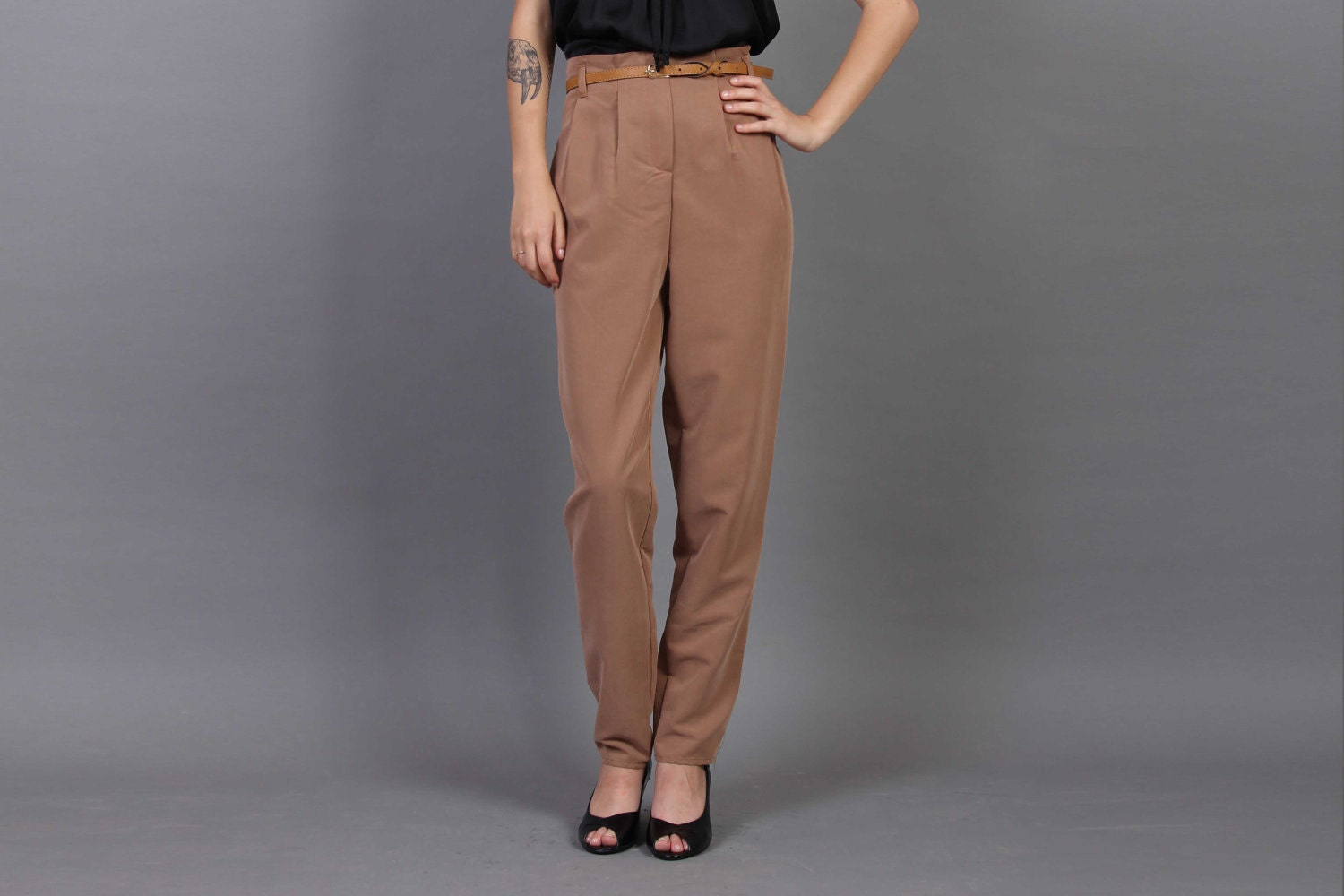 Brown High Waisted Pants