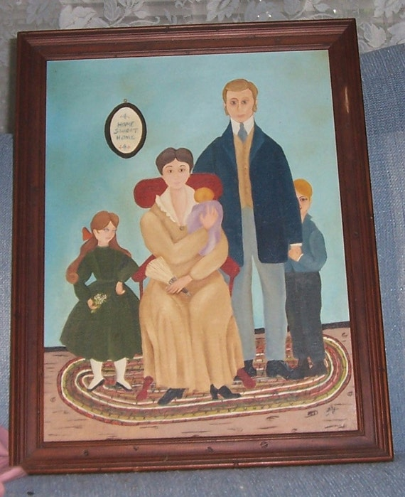 RESERVED FOR MARY-Vintage Folk Art Painting