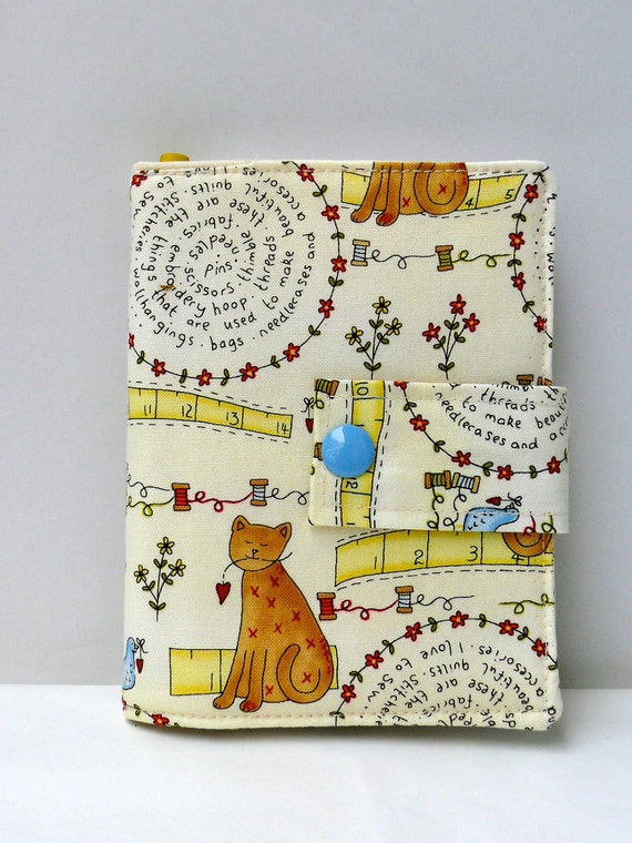 mini notebook compact cover the stitching cat