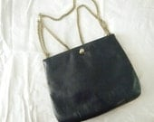1970's Navy Purse w/ Cougar Head (Ruth E. Saltz)- Reserved for Margaret
