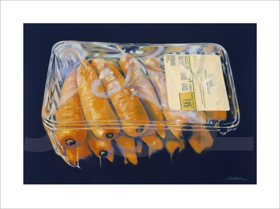Carrots Fine Art Giclee Print 24 x 30 inches