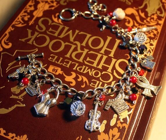 Sherlock Holmes Jewelry - Beaded BBC Sherlock Charm Bracelet