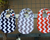 Chevron Bib Gift Set for Baby Boy - Set of 3 - All Riley Blake Chevron Colors available
