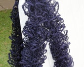 Ruffle Scarf, Fishnet scarf. Hand Knitted