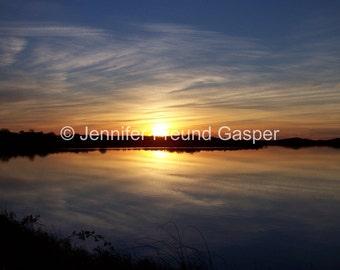 Sunset, Sachem Pond: Block Island