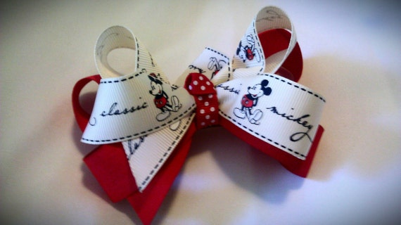 Mickey mouse 5 inch hair barrette