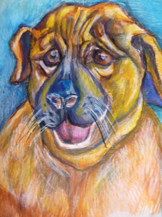 Custom Poochy Pet Portraits, Animal Portraits: Dog and Cat, Custom Portraits