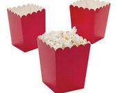 12 Minii red popcorn boxes treat favors
