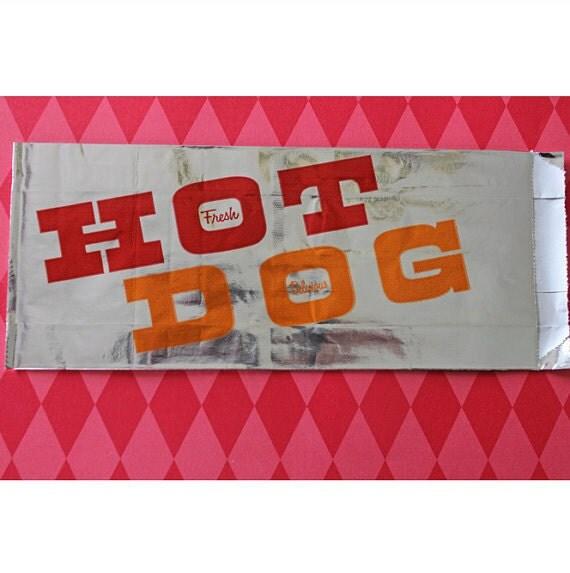 25 Retro Hotdog Bags Circus Carnival