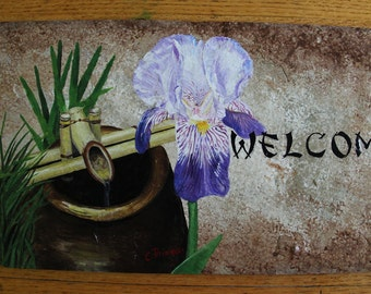 Iris with water pump