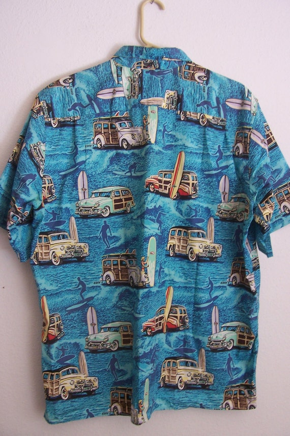 Vintage Mens Woody Hawaiian Shirt by Reyn Spooner . Large