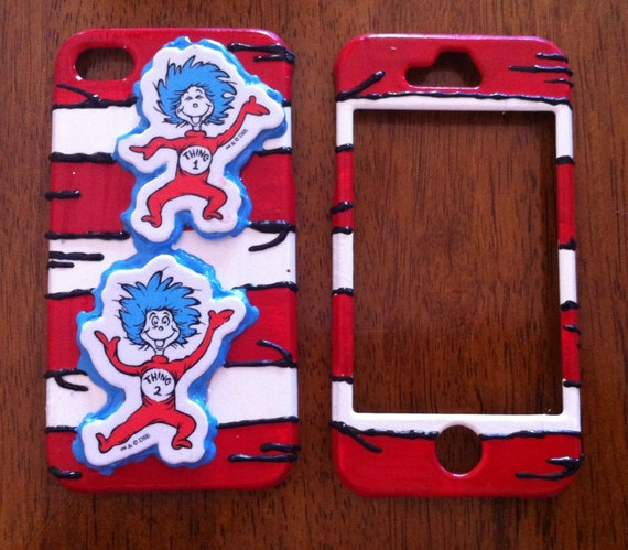 """Dr. Seuss """" Thing 1 & Thing 2"""" iPhone 4/4s Case"""