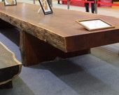 Giant Solid Wood Table - 6m long. Fully carved from one solid log.
