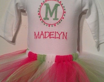 Long Sleeve Tutu Outfit with Korker Hairbow