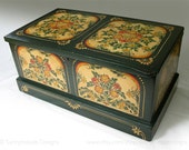 hand painted small mid-1800's chest
