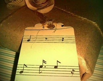 20 x Vintage Inspired Music Gift Tags