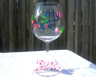 Personalized Dragonfly Wine Glass